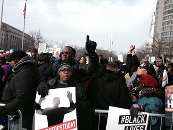 Protestors march Saturday in Washington, D.C.