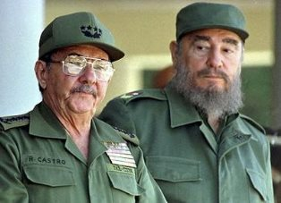 Students say much of what Americans hear about Cuba is related to its leadership—Fidel Castro, right, and his brother, Raul—and communism.