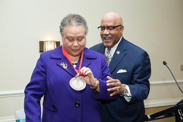 """Dr. Belle S. Wheelan said she humbly accepted the award """"on behalf of all of those whose lives I've touched."""""""
