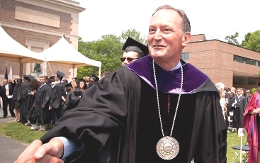 "Dr. Barry Mills, who became president of Bowdoin College in Maine in 2001, endeavored to make his alma mater ""look more like the rest of America."""