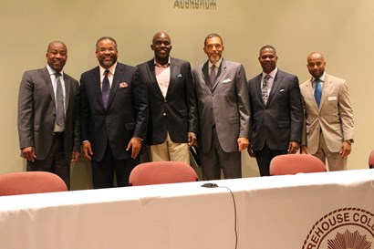 Members of Sigma Pi Phi at the 3rd International Colloquium on Black Males held last October at Morehouse College in Atlanta.