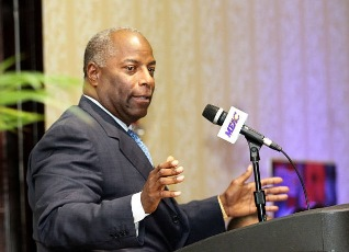 """Dr. Dennis E. Thomas, MEAC commissioner, said """"there's still room for improvement"""" in the academic performance of his conference's athletes."""