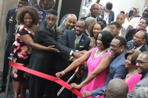 NAACP leaders and supporters cut the ribbon at the opening ceremony of the NAACP's 106th convention taking place this week in Philadelphia. (Photo courtesy of NAACP)