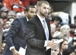 Bryant University assistant coach Chris Burns